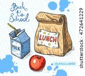 vector linear illustration of... | Shutterstock .eps vector #472641229