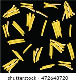 texture food french fries | Shutterstock .eps vector #472648720