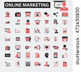 online marketing icons | Shutterstock .eps vector #472650850