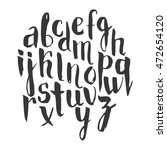 vector alphabet on a white... | Shutterstock .eps vector #472654120