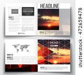 set of square design brochure... | Shutterstock .eps vector #472659478