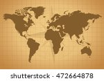 vintage map illustration with... | Shutterstock .eps vector #472664878