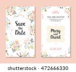 wedding set. romantic vector... | Shutterstock .eps vector #472666330