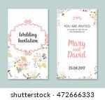 wedding set. romantic vector... | Shutterstock .eps vector #472666333