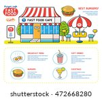 restaurant building and red... | Shutterstock .eps vector #472668280