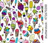 icecream collection  seamless... | Shutterstock .eps vector #472670200