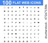 100 icon set. vector concept... | Shutterstock .eps vector #472671586
