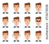 big set of businessman... | Shutterstock .eps vector #472673038
