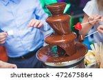 Vibrant Chocolate Fountain On...