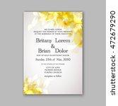 floral wedding invitation... | Shutterstock .eps vector #472679290