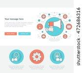 flat line business concept... | Shutterstock .eps vector #472686316