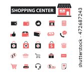 shopping center icons | Shutterstock .eps vector #472687243