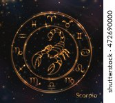 jpeg. scorpio. the same in... | Shutterstock . vector #472690000