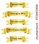 gold premium sales vector... | Shutterstock .eps vector #472692400