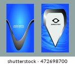 business card template  | Shutterstock .eps vector #472698700