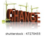 change the world make things better and improve solve problems and achieve success red word 3D - stock photo