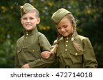 two children in military... | Shutterstock . vector #472714018