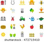 farm colored flat icons | Shutterstock .eps vector #472715410