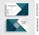 business card with abstract... | Shutterstock .eps vector #472715479