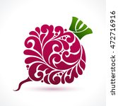 decorative ornamental red beet... | Shutterstock .eps vector #472716916