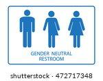gender neutral restroom sign... | Shutterstock .eps vector #472717348