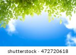 natural background with blue... | Shutterstock . vector #472720618