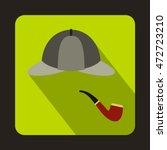 detective sherlock holmes hat... | Shutterstock .eps vector #472723210