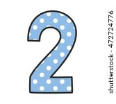 Hand Drawn Vector Number  With...
