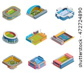 isometric images set of... | Shutterstock .eps vector #472724890