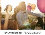rays of sun illuminate a... | Shutterstock . vector #472725190