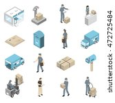 post office service isometric... | Shutterstock .eps vector #472725484