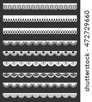 set of white lace borders... | Shutterstock . vector #472729660
