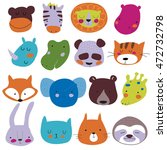vector faces of different... | Shutterstock .eps vector #472732798