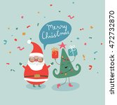 christmas illustration with... | Shutterstock .eps vector #472732870