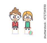 boy and girl .vector | Shutterstock .eps vector #472734550