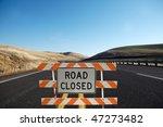 road close traffic sign | Shutterstock . vector #47273482