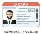id card. flat design style. | Shutterstock .eps vector #472736830
