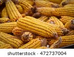 Small photo of Corn Sugar, also maize - an annual herbaceous crop plant, the only representative of the kind of cultural Corn Cereals family