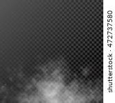 white translucent smog vapor on ... | Shutterstock .eps vector #472737580