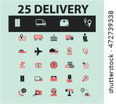 delivery icons | Shutterstock .eps vector #472739338