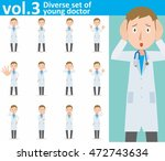 diverse set of young doctor on... | Shutterstock .eps vector #472743634