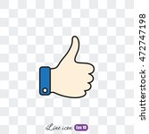 like icon  thumb up | Shutterstock .eps vector #472747198