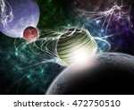 planets and nebula. | Shutterstock . vector #472750510