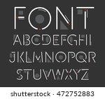 thin font. futuristic font.... | Shutterstock .eps vector #472752883