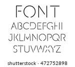 thin font. futuristic font.... | Shutterstock .eps vector #472752898