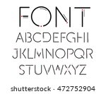 thin font. futuristic font.... | Shutterstock .eps vector #472752904