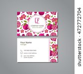 vector visit card template with ... | Shutterstock .eps vector #472772704