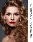 close up portrait of beautiful...   Shutterstock . vector #472780174