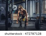 athletic blond female fitness... | Shutterstock . vector #472787128