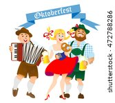 bavarian men and woman... | Shutterstock .eps vector #472788286